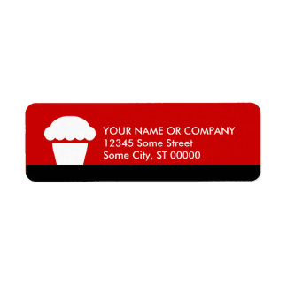 simple cupcake return address label
