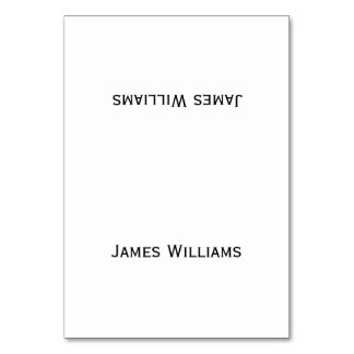 Simple Custom Black And White Place Setting Cards Table Cards
