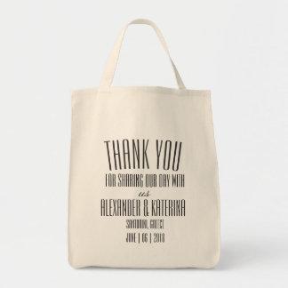 Simple Custom Thank You Welcome Wedding Tote Bag