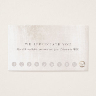 Simple Customer Loyalty 10 Punch White Marble