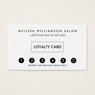 Simple Customer Loyalty Punch Card