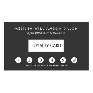 Simple Customer Loyalty Punch Card II Pack Of Standard Business Cards