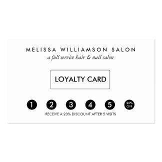 Simple Customer Loyalty Punch Card Pack Of Standard Business Cards