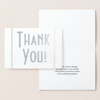 "Simple, Customizable & Custom ""Thank You!"" Card"