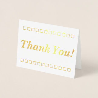 """Simple, Customized """"Thank You!"""" Card"""