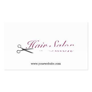 Simple Cut Off Hair Salon Business Card