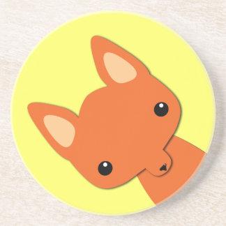 Simple Cute fox Coaster