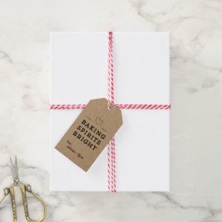 Simple Cute Heart Baking Spirits Bright Gift Tag