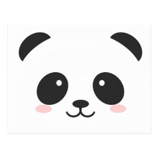 Simple Cute Panda Postcard