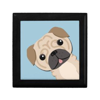 Simple cute pug gift box