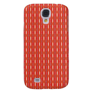simple cute red white pern samsung galaxy s4 cover