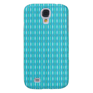 simple cute turquoise white pattern samsung galaxy s4 cover