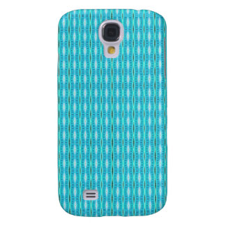 simple cute turquoise white pern samsung galaxy s4 cases