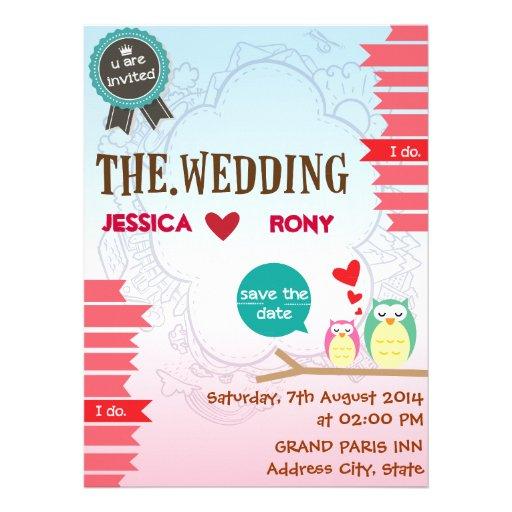 Simple Cute Wedding Invitation