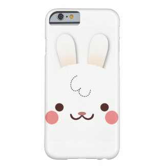 Simple Cute white rabbit face with ears Barely There iPhone 6 Case