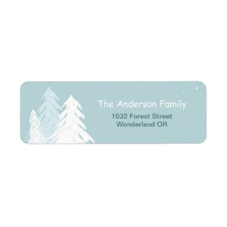 Simple Cute Winter Onederland Wonderland Label Return Address Label
