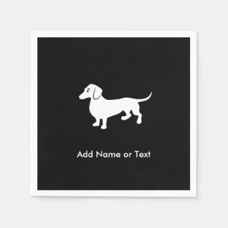 Simple Dachshund Customizable Paper Napkin