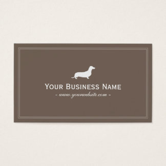 Simple Dachshund/Hotdog Dog Business Card