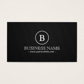 Simple Dark Monogram Driver Business Card