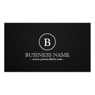 Simple Dark Monogram Programmer Business Card