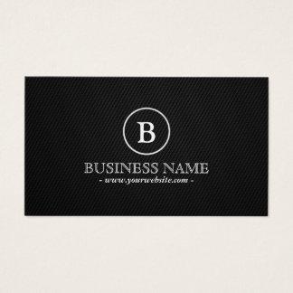Simple Dark Monogram Tattoo Art Business Card