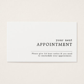 Simple Design Appointment Business Card