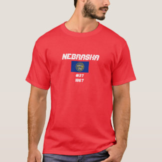 Simple Design Nebraska Flag Shirt