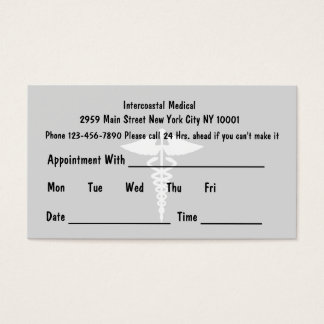Simple Doctor Appointment Cards