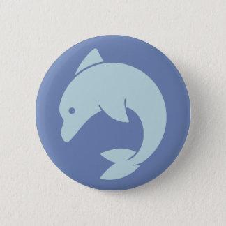 Simple Dolphin Design 6 Cm Round Badge