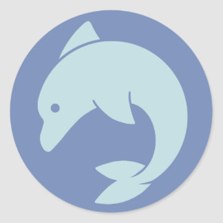 Simple Dolphin Design Classic Round Sticker