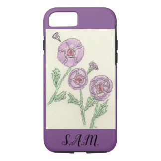 Simple Doodle Flowers iPhone 8/7 Case