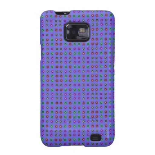 Simple dot pattern blue galaxy SII covers