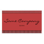 Simple Dots And Stripes (Strawberries) Pack Of Standard Business Cards