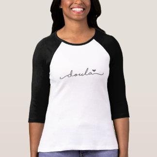 Simple Doula Baseball Shirt with a Heart