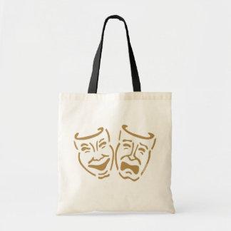 Simple Drama Masks Budget Tote Bag