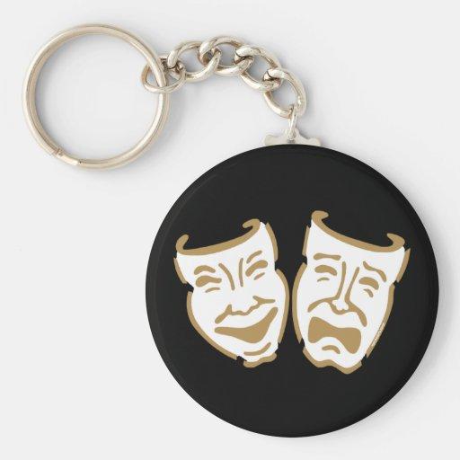 Simple Drama Masks Keychains