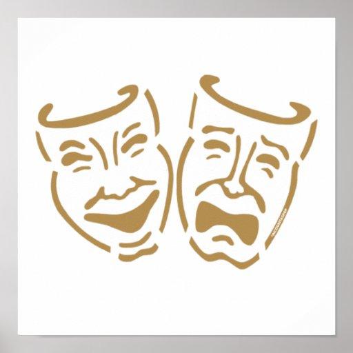 Simple Drama Masks Poster