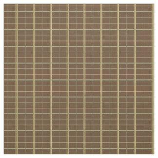 Simple Earth Plaid on Chocolate Brown Fabric