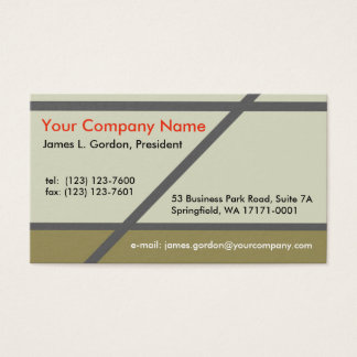Simple Earth Tones Business Card