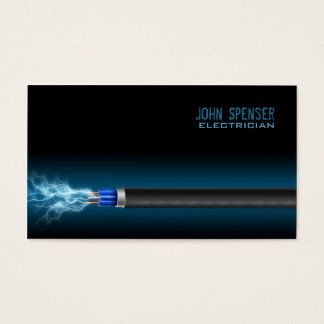 Simple Electric Wire Electrician Business Card