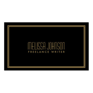 Simple Elegance Art Deco Style Black/Gold Pack Of Standard Business Cards
