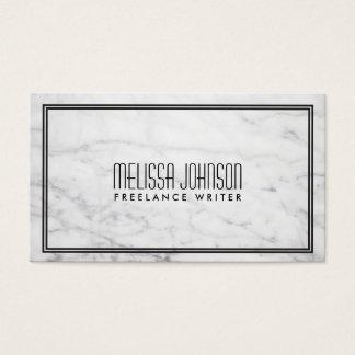 Simple Elegance Art Deco Style Marble/Black Business Card