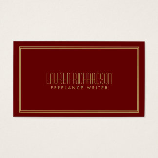 Simple Elegance Art Deco Style Red/Gold