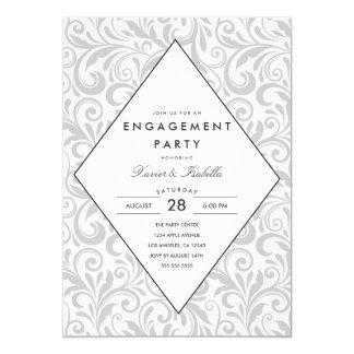 Simple Elegance   Engagement Party Invitation