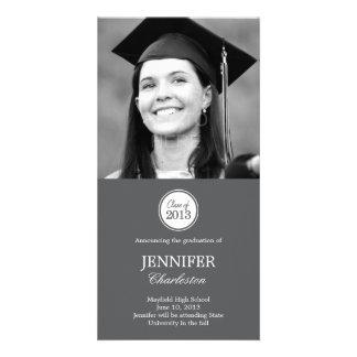 Simple Elegance Graduation Announcement Photo Card Customized Photo Card