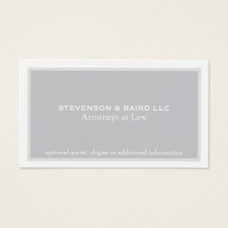 Simple Elegant Attorney Professional Business Card