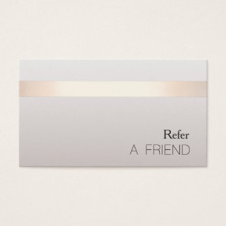 Simple Elegant Beauty Salon Referral Card 2