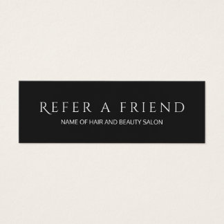 Simple Elegant Black and White Referral Card