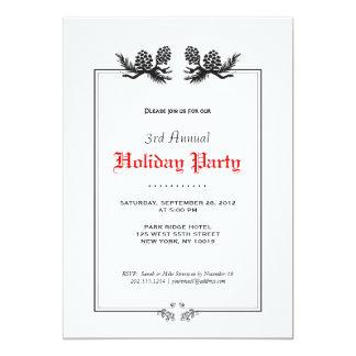 Simple Elegant Black and White Retro Holiday Party 13 Cm X 18 Cm Invitation Card