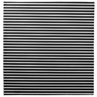 Simple Elegant Black and White Stripe Napkin